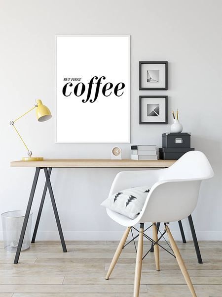 Poster - - - But first coffee No.29 30x40cm a05f06