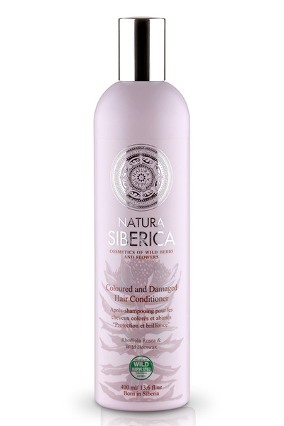 Natura siberica coloured and damaged hair conditioner
