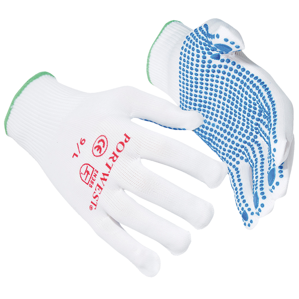 Portwest nylon polka dot gloves (a110) / safetywear / workwear b
