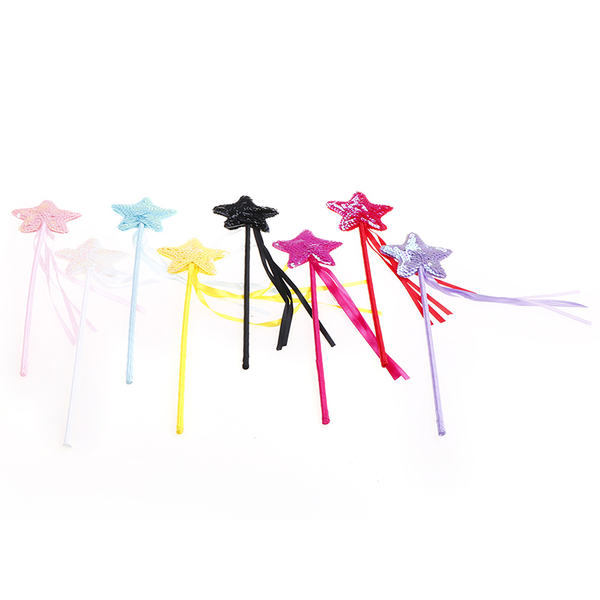 Cute five pointed star fairy wand magic stick girl party princes