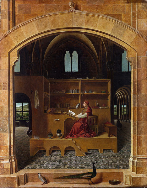 St Jerome in His Study,Antonello da Messina,46x36cm