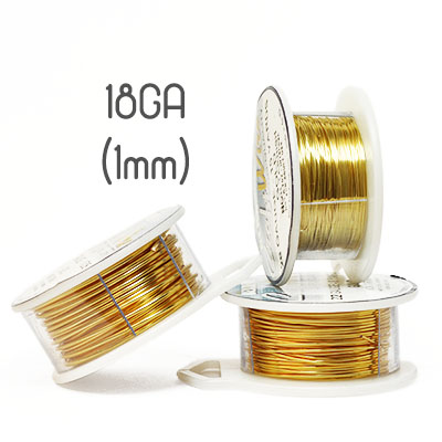 Non-tarnish gold wire 18ga (1mm grov)