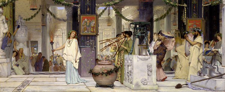 The Vintage Festival,Sir Lawrence Alma-Tadema,80x40cm