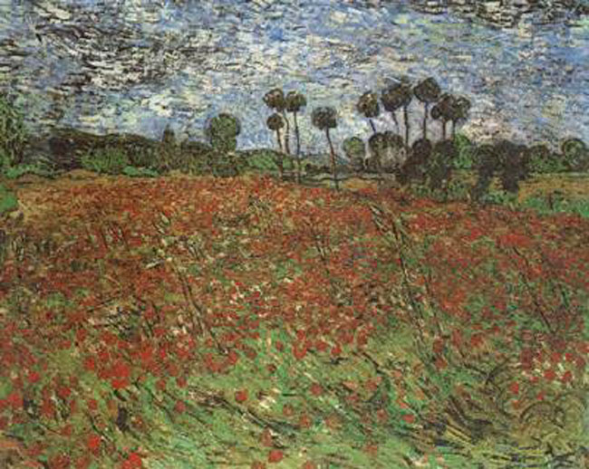Field with Poppies,Vincent Van Gogh,60x50cm