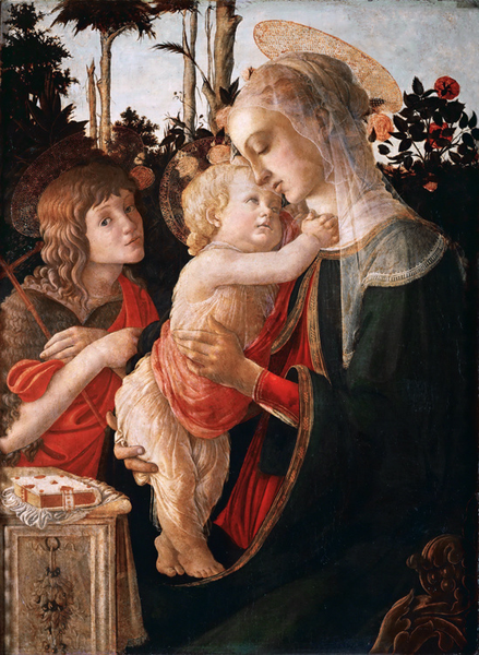 Madonna of the Rose Garden or Madonna,Sandro Botticelli