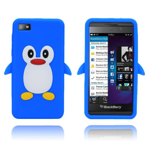 Penguin (blå) blackberry z10 silikonskal