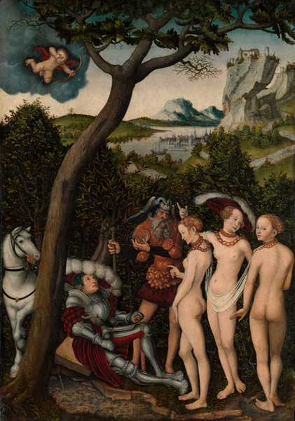 Recreation by our Gallery,Lucas Cranach the Elder,60x40cm