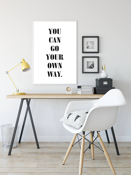 Poster - You can go go go your own way No.3 70x100cm 4fb5f8