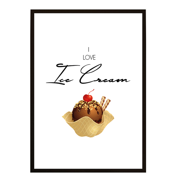 Poster - I love Ice Cream No.7 40x50cm