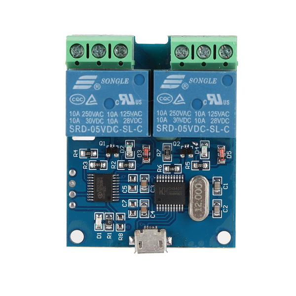 Lcus-2 2-way usb relay intelligent control switch module for