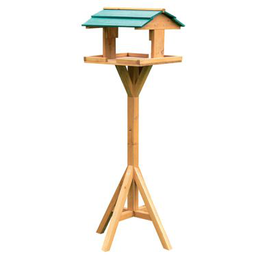 Traditional Wooden Bird Table Table Table Garden Decoration 0d9216