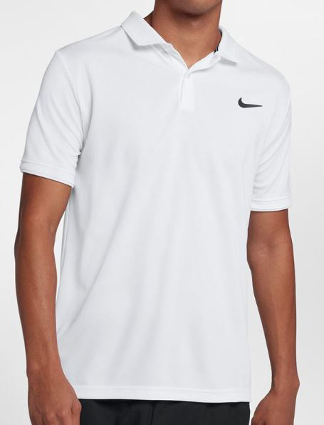NIKE Court Dry Polo Team Mens White