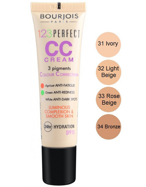 Bourjois 123 perfect cc cream spf 15 – rose beige