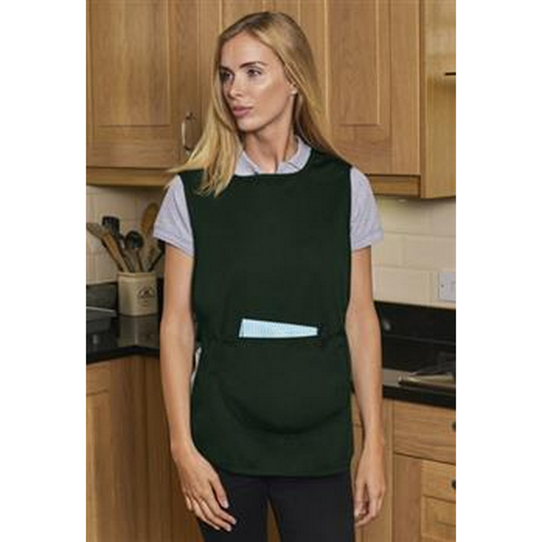 Absolute apparel adults workwear tabard with pocket bottle green