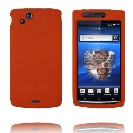 Full mjukskal (orange) sony ericsson xperia arc skal