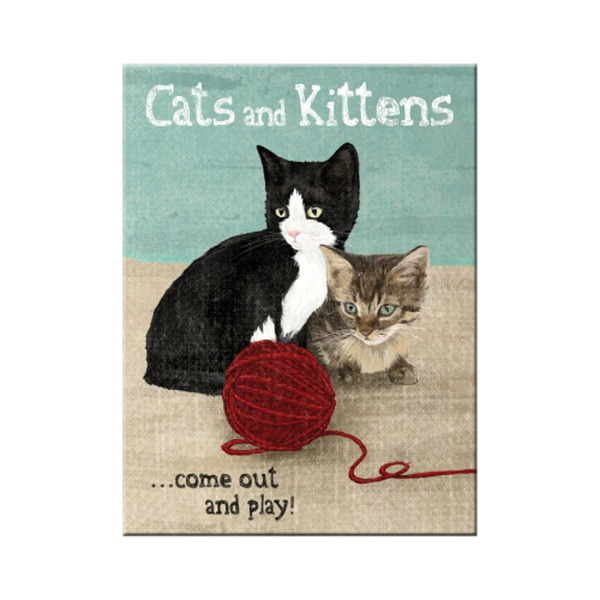 """Kylskåpsmagnet """"Cats and and and Kittens"""" 3afc0e"""