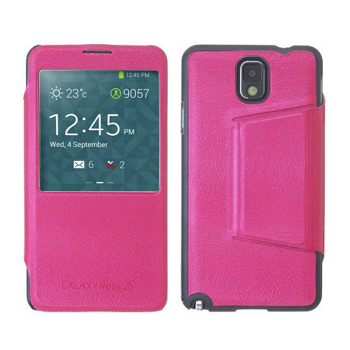 View cover fodral till samsung galaxy note 3 n9000 (magenta)