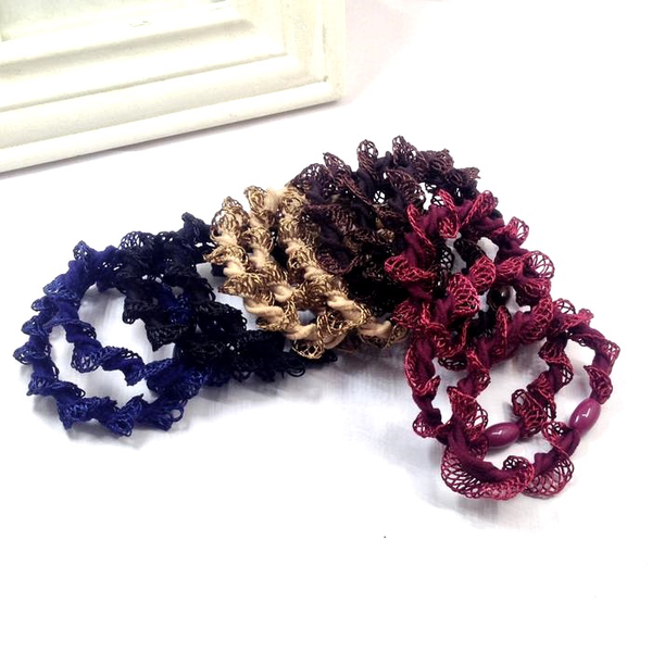 Hair Decorations Lace Rubber Band Lace Trimmings Knitting Wool
