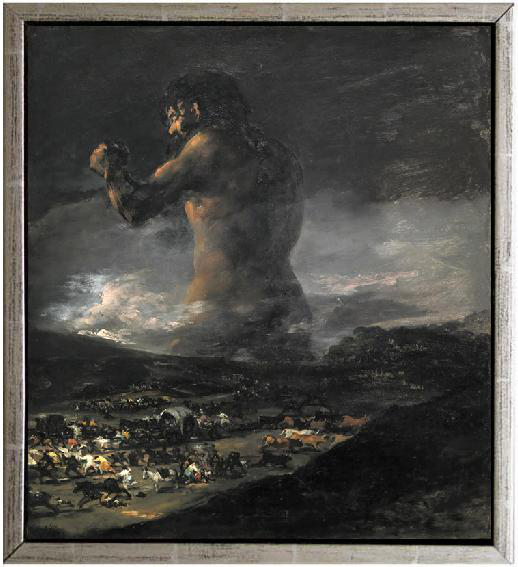 Med ram The Colossus or Panic,Francisco Panic,Francisco Panic,Francisco Goya,61x51cm e2b607