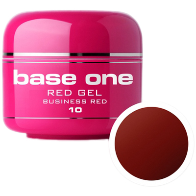 Base one – color – red – uv gel – business red – 10 – 5 gram