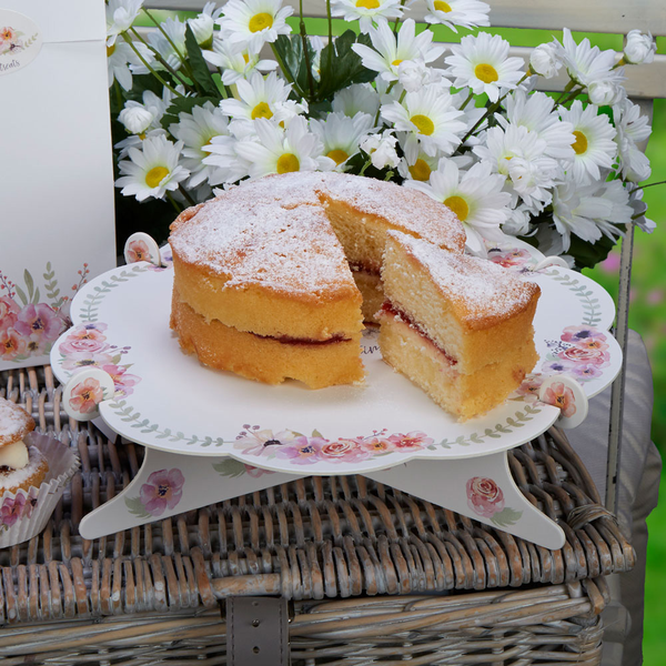 Floral Cake Stand Single Tier Afternoon Afternoon Afternoon Tea Time for Tea 0f5feb