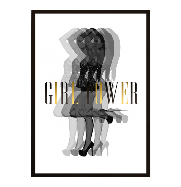 Poster Poster Poster - Woman illusion Girlpower Royal init No.3 30x40cm c8ee29