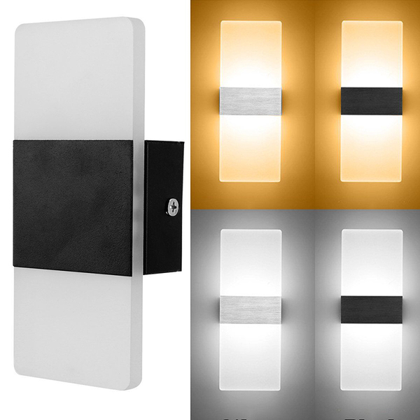 Led wall light up down cube indoor outdoor sconce lighting lamp