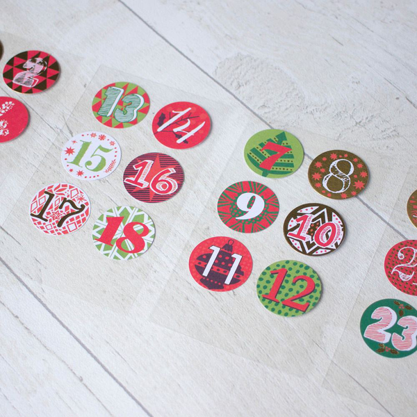 Advent calendar stickers numbers 1 – 24 create your own adven…