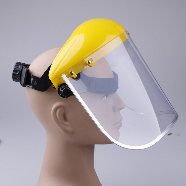 Yellow clear safety face shield screen mask for visors eye face