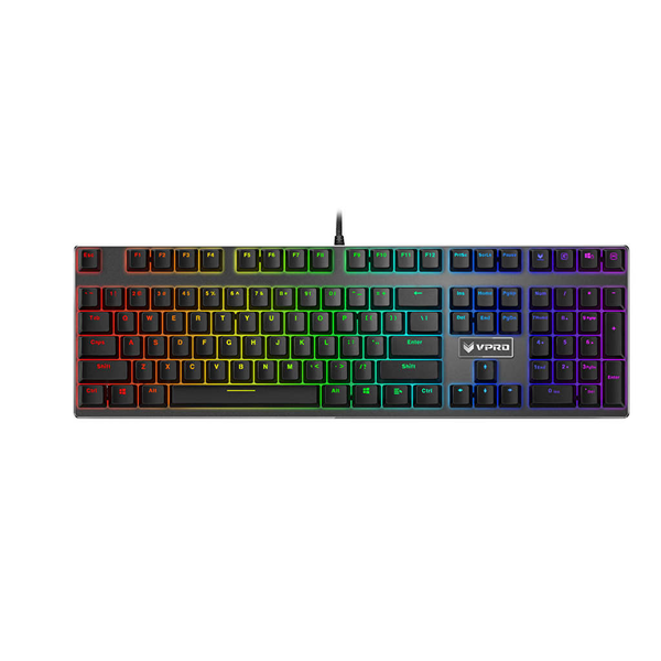 Vpro keyboard gaming v700rgb mekaniskt backlit svart