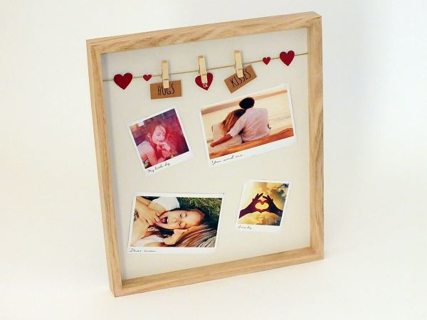Clothes Line With Pegs Square Wooden Photo Photo Photo Frame 30x30cm a2b226