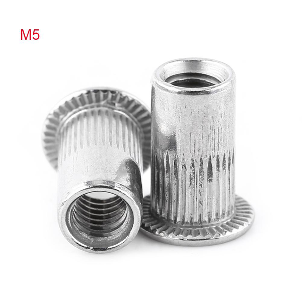 M3-m8 flat head threaded blind rivet nut insert nutsert scre