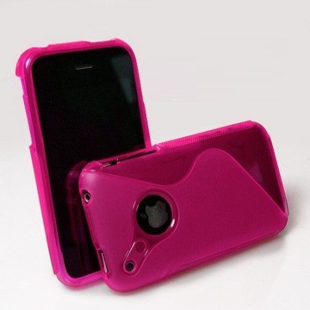 Wave flexicase skal till apple iphone 3gs (rosa)