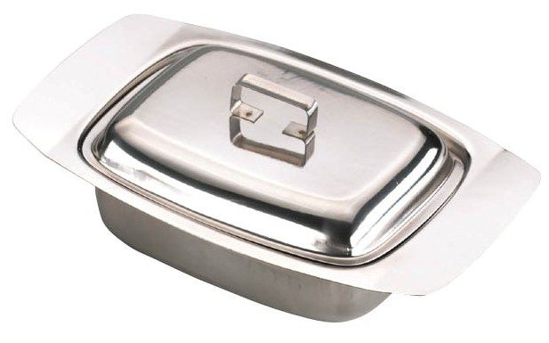 Butter Dish with Cover Stainless Steel Dairy Storage Storage Storage Keeper f370b8
