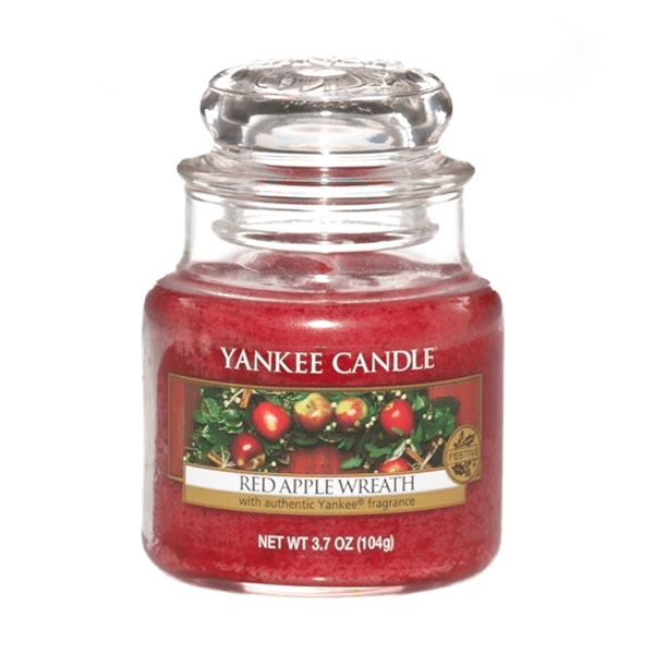 Yankee candle red apple wreath small jar 104g