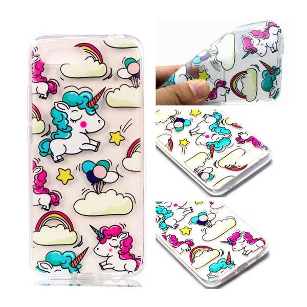 Huawei honor 10 pattern printing soft case – unicorns and ra…
