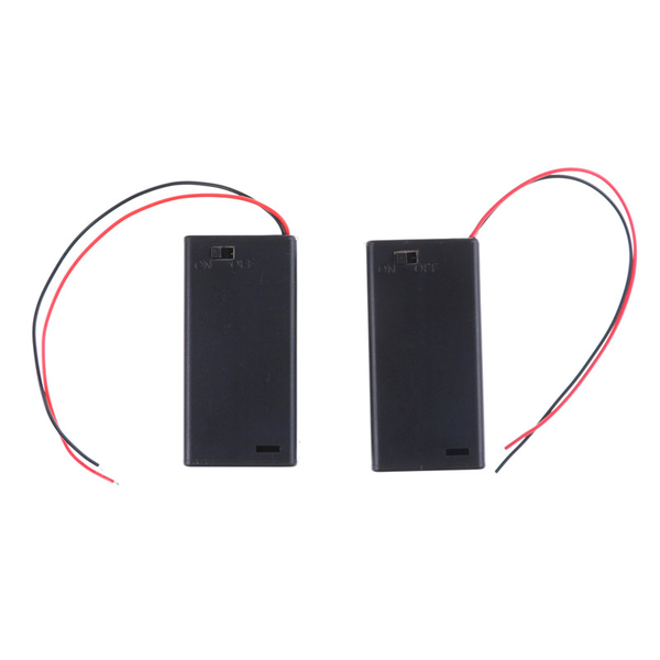 2pcs 3v 2 aa battery holder case with on/off toggle switch box p