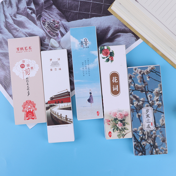 30pcs/box creative chinese style bookmarks and fine paper bookma
