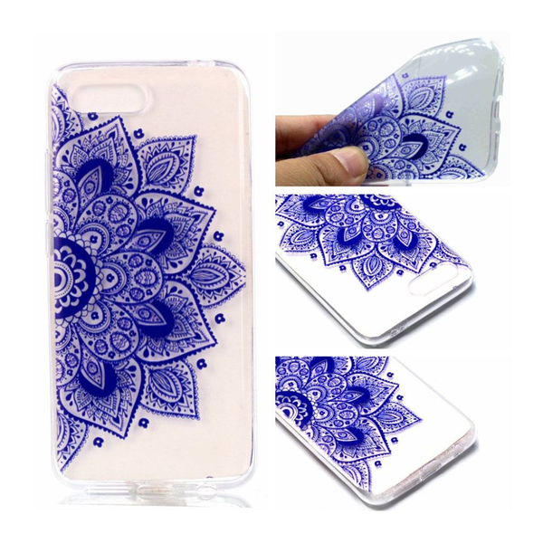 Huawei honor 10 pattern printing soft case – half flower