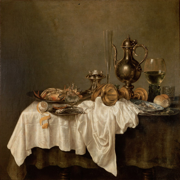 Breakfast of Crab,Willem Claesz. Heda,50x50cm