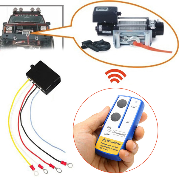 12v winch wireless remote control switch handset kit fit tool fo
