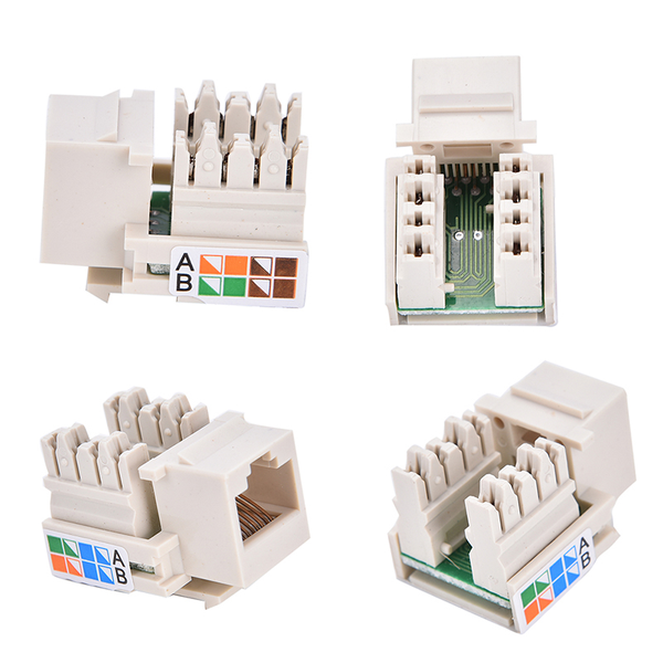 Cat5 rj45 punch down keystone jack cat5 network ethernet rj45 wh