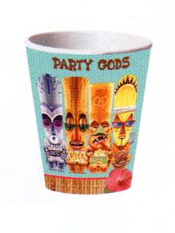 4 x 8-p pappersmuggar – tiki – hawaii