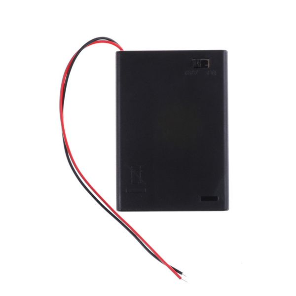 4.5v 3 aa battery holder case cell with on/off toggle switch box