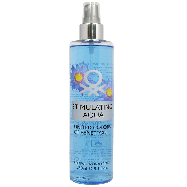 Benetton stimulating aqua refreshing body mist 250ml