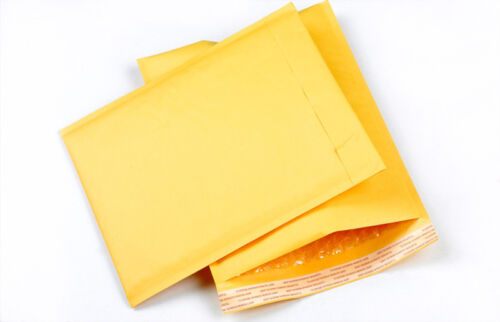 10x 130*230+40mm kraft bubble bag padded envelopes mailers shipp