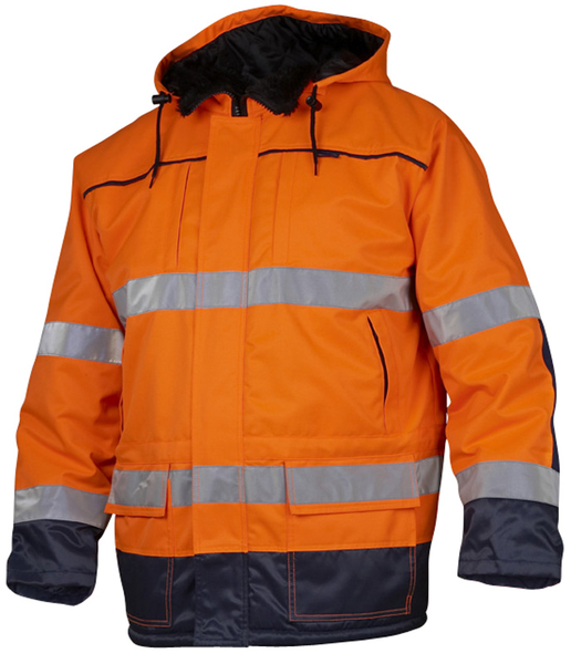 Jacka vinter orange varseljacka parkas – herr
