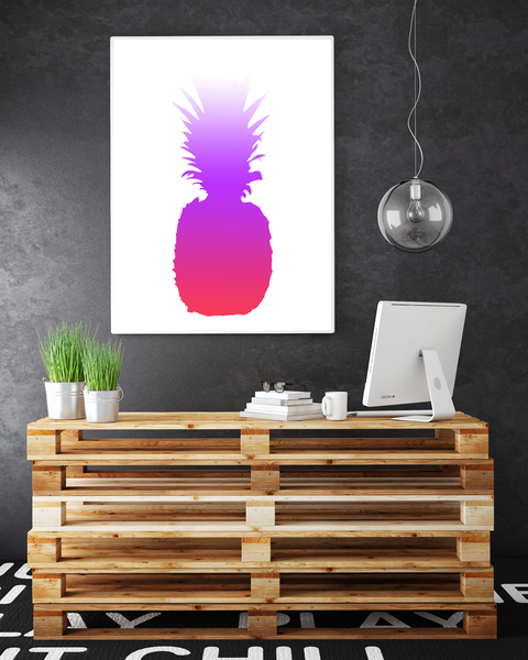 Poster Poster Poster - Ananas Rosa Lila Tropical 40x50cm 53c332