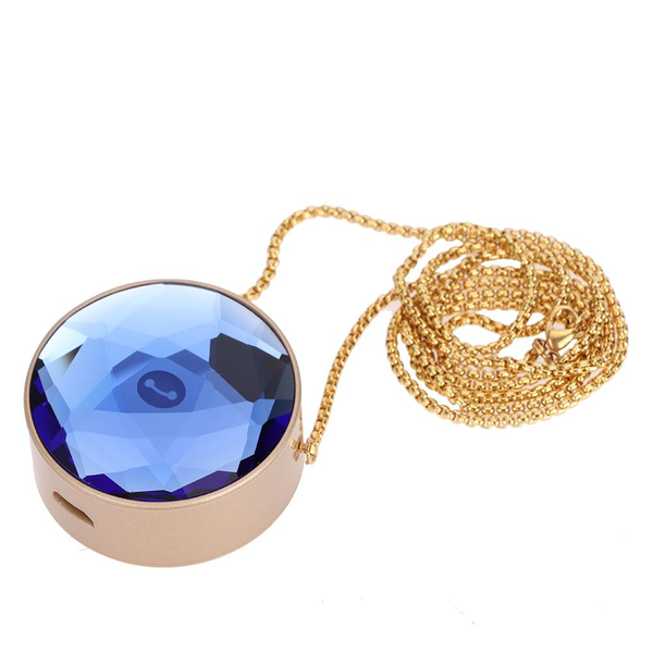 Usb charging portable mini crystal necklace negative ion air