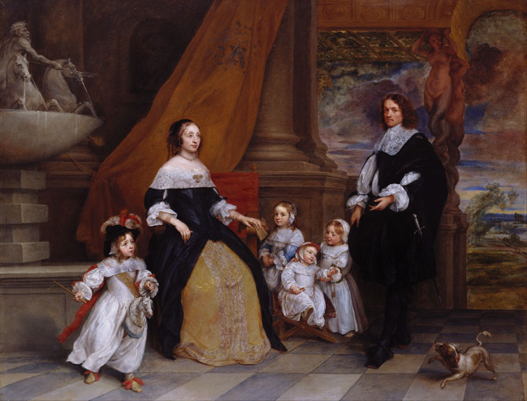 The Family of Jan Baptista Baptista Baptista Anthonie,Gonzales Coques,50x40cm 3cf7c1